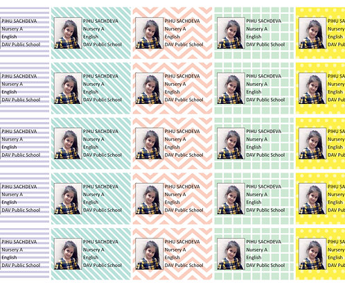 Personalized Copy Labels for School Notebooks (Set of 25 Labels)