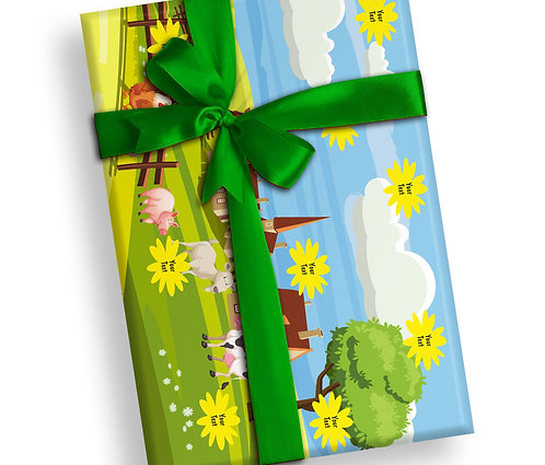 Customized Farm Animal Theme Wrapping Papers (PS WP 02)