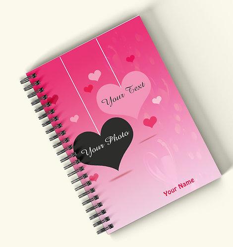 Personalized Hardbound Wiro / Spiral NoteBook / Diary (NBHB Wiro 017)