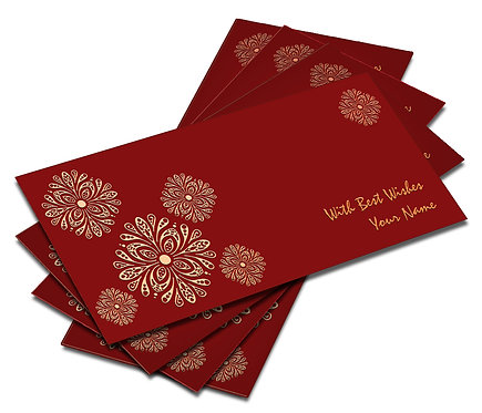 Shagun Envelope on Red Velvet paper(Pack of 10) SEVLVT 006