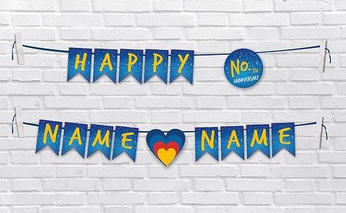 Anniversary Bunting Banners (AnBBan 14)