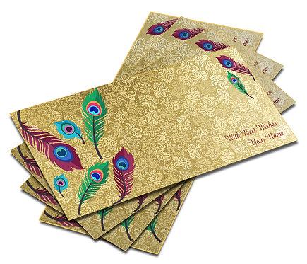 Customized Shagun Envelope on Self Design Textured paper