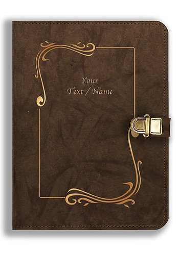 Personalized Leather NoteBook / Diary with Metal Lock (NBLOCK 023)