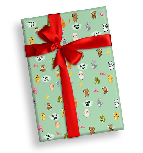 Customized Baby Animal Theme Wrapping Papers (PS WP 01)