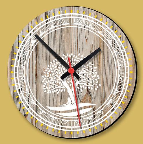 Wooden Printed Wall Clock (04)