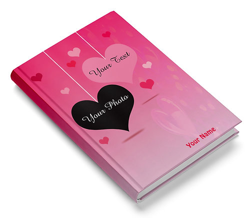 Personalized Hardbound Pasted Board NoteBook / Diary (NBHB 017)