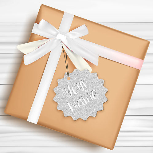 Gift Tags (Pack of 4 / 10)  (GT SLVR GLTR 01)