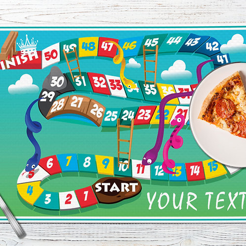 Personalized Place Mats/Table Mats with Customized/Custom Text/Name/Photographs