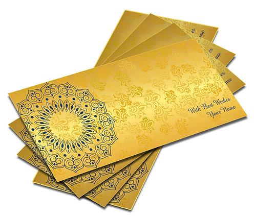 Customized Metallic Self Design Shagun Envelopes