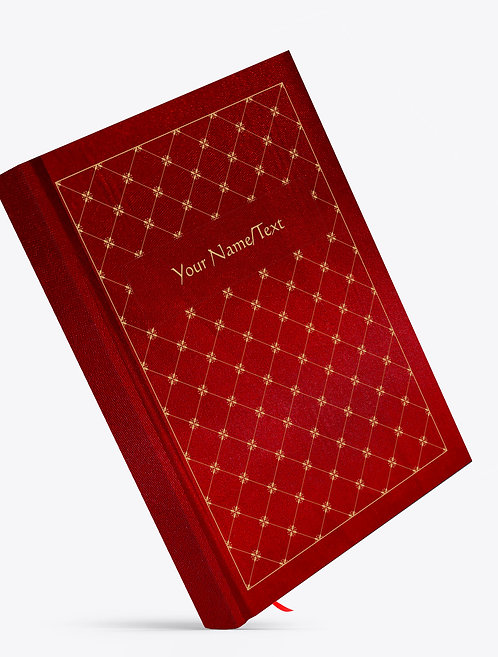 Personalized Satin Cover Notebook / Diary (NBSatin Maroon 06)
