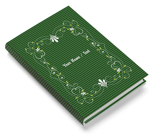 Personalized Pasted Board Notebook / Diary (NBHB 064)