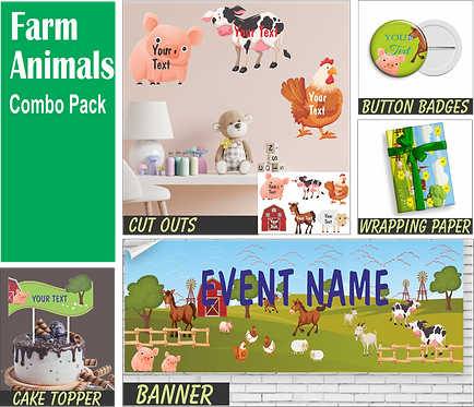 Farm Animal Theme Combo (PS Combo 4)