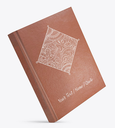 Personalized Hardbound Leather Cover Large NoteBook / Diary (NBLTHR L 001)