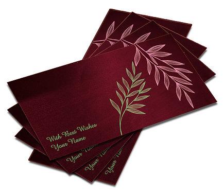 Shagun Envelope on Maroon Satin paper(Pack of 10) SESATIN 008