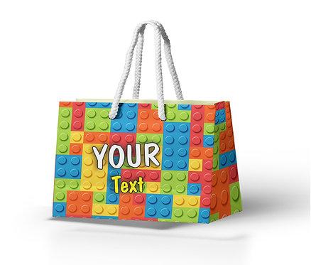 Customized Blocks Theme Paper Bags (PS Bag B 03)