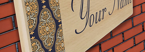 Personalized UV Printed Wooden Door Name Plate (NP 03)