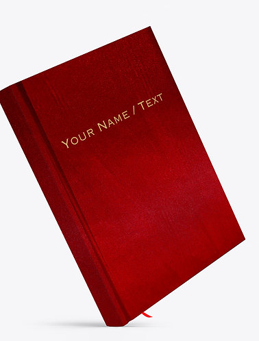 Personalized Satin Cover Notebook / Diary (NBSatin Maroon 03)