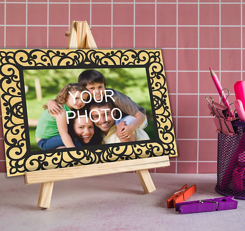 Personalized Poster/Collage/Memories Printed on Wood (MDF) with Easel Stand