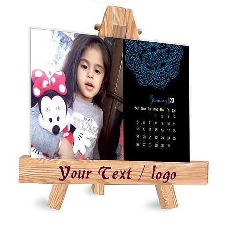 Personalized Table Caledndar on Easel Stand (EaseCal  01)