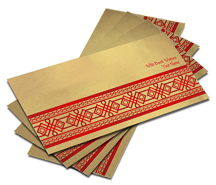 Shagun Envelope on Gold Satin paper(Pack of 10) SESATIN GOLD 003