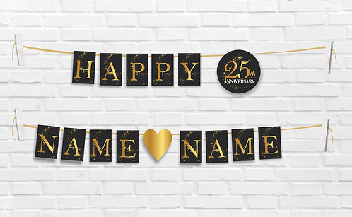 Anniversary Bunting Banners (AnBBan 01)