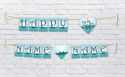 Anniversary Bunting Banners (AnBBan 21)