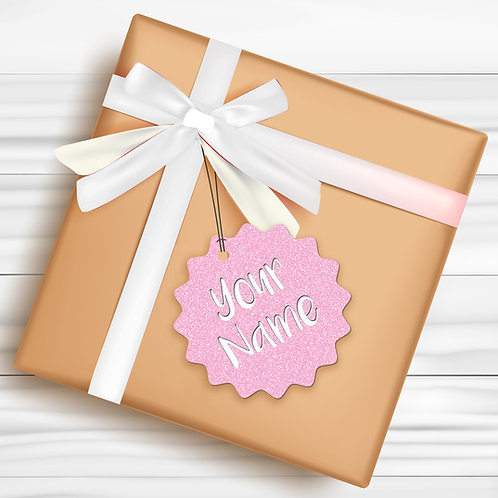 Gift Tags (Pack of 4 / 10)  (GT BPINK GLTR 01)