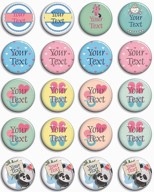 Personalized Button Badges (ButnBadge 022)