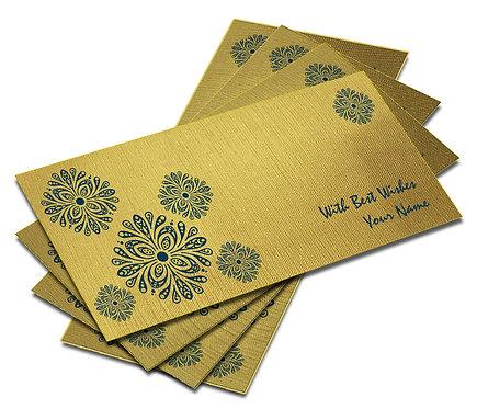 Shagun Envelope on Gold Textured paper(Pack of 10) SEGOLD 005