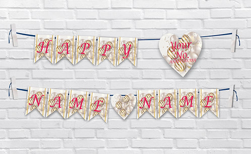 Anniversary Bunting Banners (AnBBan 42)