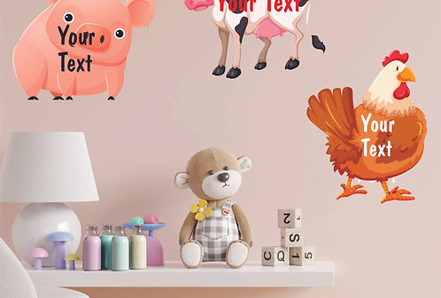 Customized Farm Animal Theme CUT-OUT Posters (PS Cut-out Pos 02)