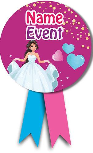 Customized Princess Theme Badges (PS Ani Badge 04)