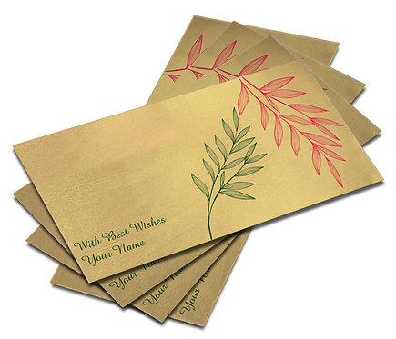 Shagun Envelope on Gold Satin paper(Pack of 10) SESATIN GOLD 001