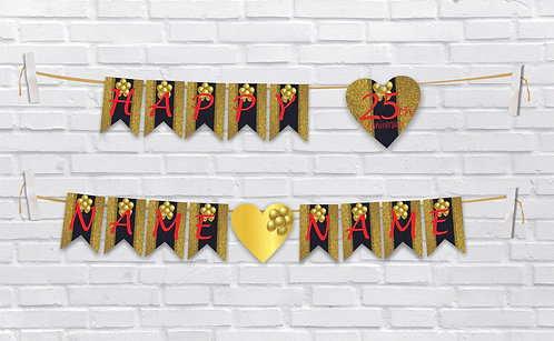 Anniversary Bunting Banners (AnBBan 17)
