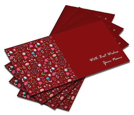 Shagun Envelope on Red Velvet paper(Pack of 10) SEVLVT 012