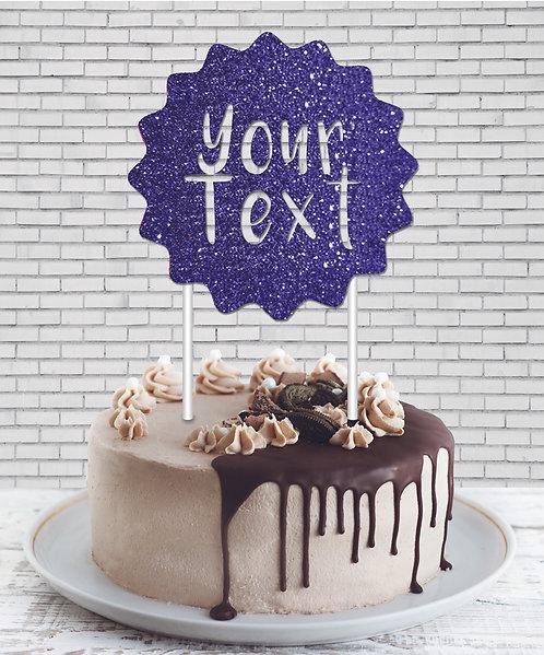 Cake Topper (CT Blue 01)