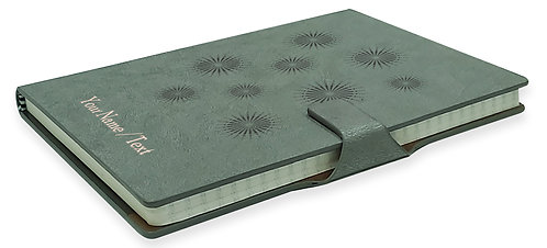 Personalized Hardbound NoteBook / Diary with MAGNETIC Lock (NB Gray Mag 002)