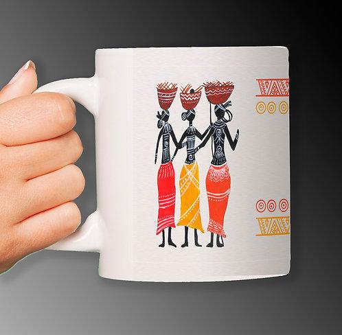 Customized Art Painting by Renowned Artist Printed on Ceramic White Mug