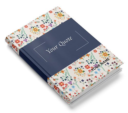 Personalized Hardbound Pasted Board NoteBook / Diary (NBHB 008)