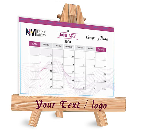 Personalized Table Caledndar on Easel Stand (EaseCal  04)
