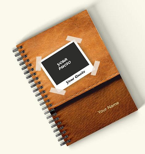Personalized Hardbound Wiro / Spiral NoteBook / Diary (NBHB Wiro 013)