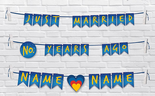 Anniversary Bunting Banners (AnBBan 15)