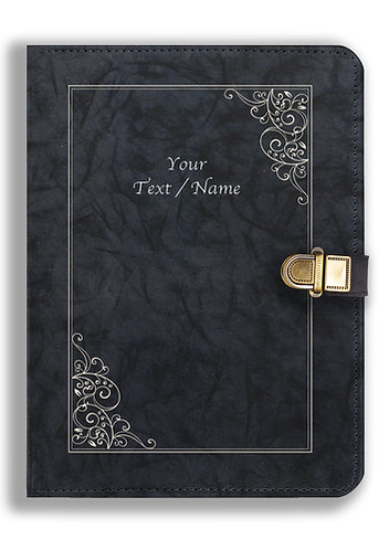 Personalized Leather NoteBook / Diary with Metal Lock (NBLOCK 008)