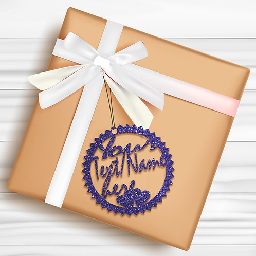 Gift Tags (Pack of 4 / 10)  (GT BLUE GLTR 03)
