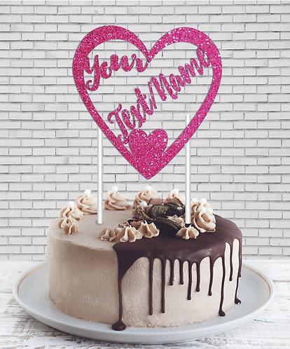 Cake Topper (CT Pink 02)