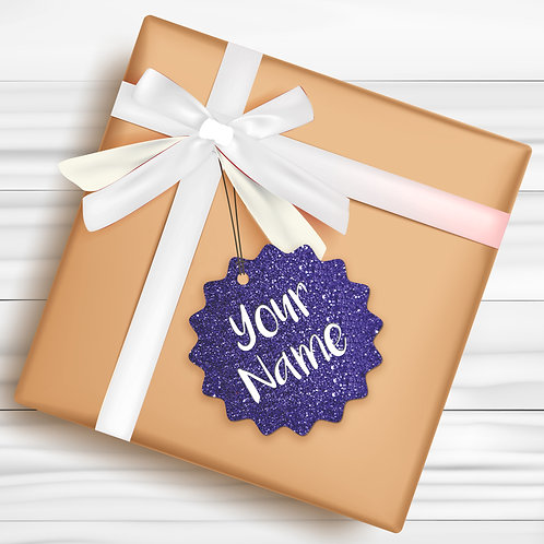 Gift Tags (Pack of 4 / 10)  (GT BLUE GLTR 01)