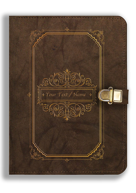 Personalized Leather NoteBook / Diary with Metal Lock (NBLOCK 026)
