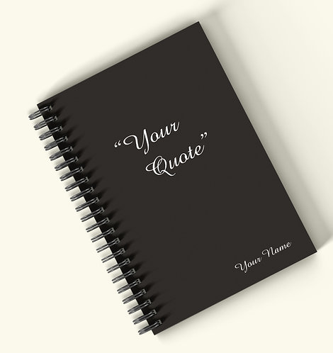 Personalized Hardbound Wiro / Spiral NoteBook / Diary (NBHB Wiro 011)