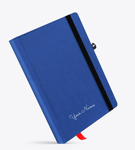 Personalized Blue Basic Leather NoteBook / Diary
