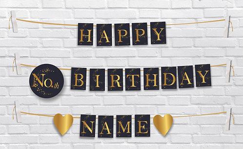Birthday Bunting Banners (BBBan 01)